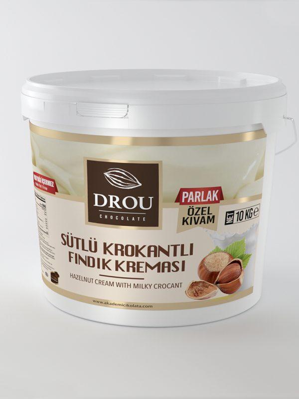 Sütlü Krokantlı Fındık Kreması